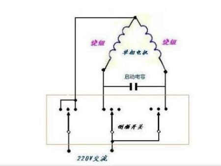 220伏电机正反转开关接线图