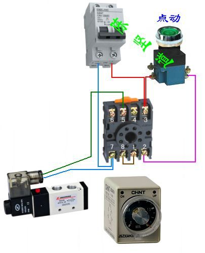 ah3-3时间继电器接线法
