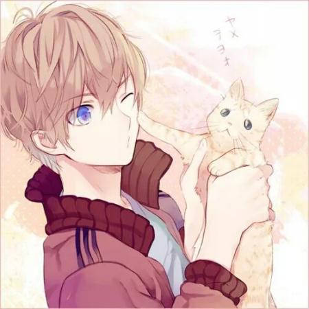 呆萌女生头像抱猫_求类似这种女生抱猫的动漫头像