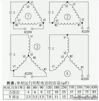 380v电机转220v电机怎么接线图