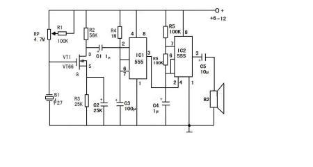 ne555在电路图中的作用