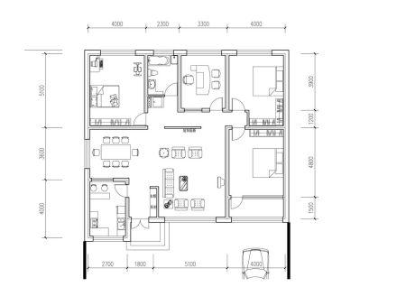 怎样设计一个五间农村单层平房?