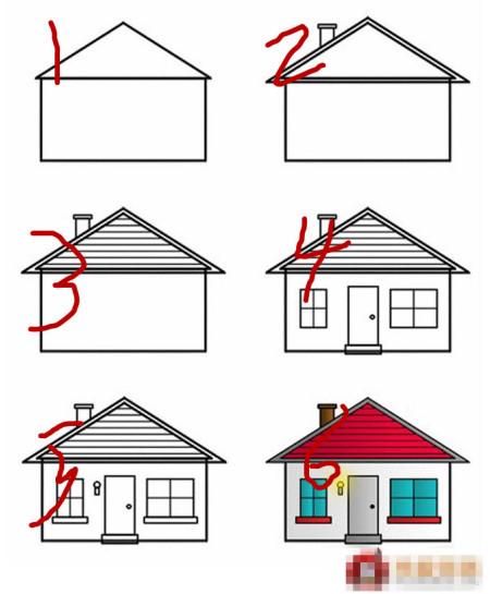 透视楼房手绘图六年级