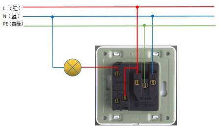 深思插座一开五孔怎么接线
