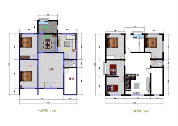 80平方米房屋设计图家里需要重新建房子(普通农村图片