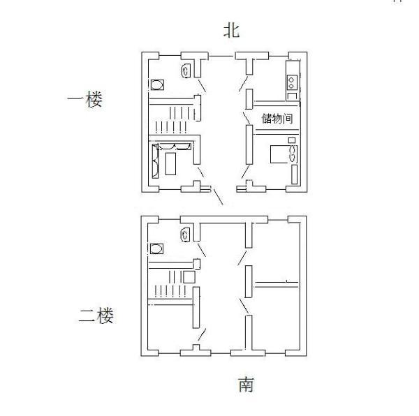 求在农村建房设计图,面积东西15米南北10米,求建