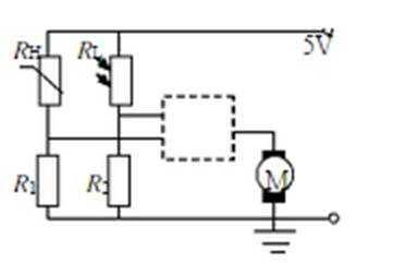 电动机的自动控制电路如图所示