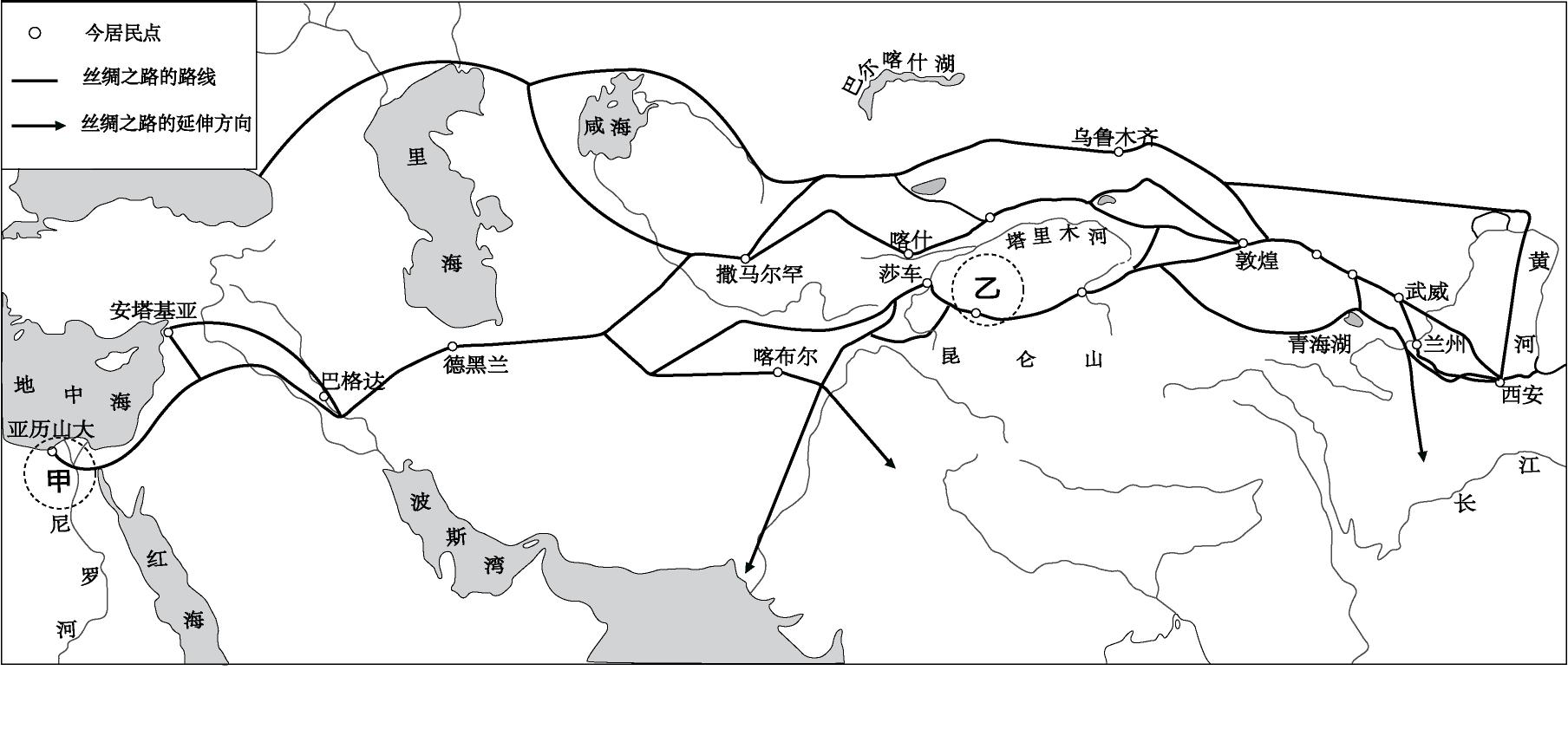 中国地图简笔画可爱