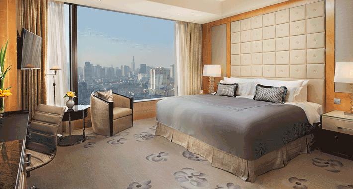 南京香格里拉大酒店豪华客房住宿一晚