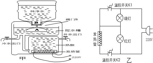 饮水机结构示意图