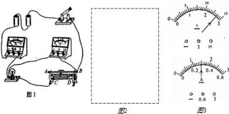 (2)按图1中改正后的实物电路连接情况,在图2虚线框内画出相应的电路