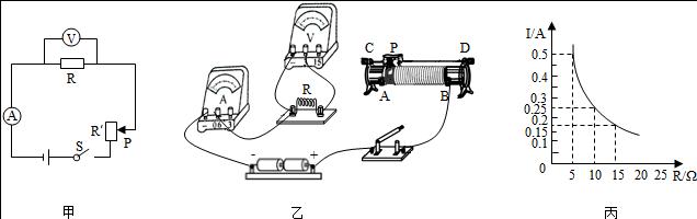 """小强利用如图甲所示的电路,实验探究""""保持电压不变时"""