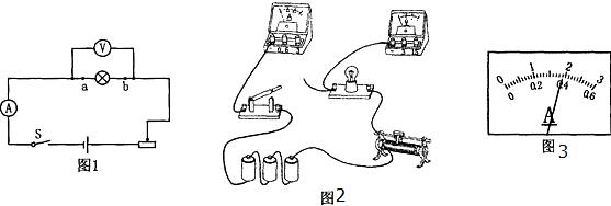 """图1所示是""""测定小灯泡的功率""""实验的电路图,图2是即将"""