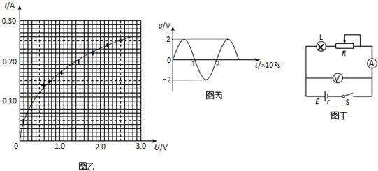 电路图,该小组同学测得多组电压和电流值,并在图乙中画出了小灯泡l的