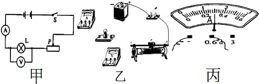 在用电流表,电压表测小灯泡的电阻,功率的实验时,灯泡
