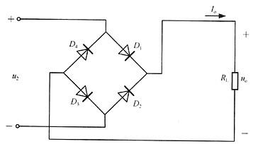 单相桥式整流滤波电路中,若副边电压有效值为10v,那么图片