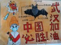 为中国加油,为武汉加油手抄报(图画)怎么画?