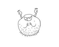 卡通细菌怎么画