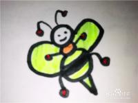 怎么样用简笔画画卡通小蜜蜂