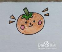 水果卡通画:橘子