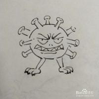 冠状病毒卡通简笔画怎么画