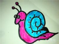 怎么样用简笔画画可爱的小蜗牛