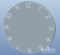 利用creo的函数itos,创建时钟.