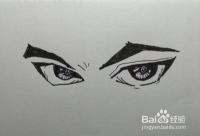 如何画动漫人物犀利的眼睛(眼神)