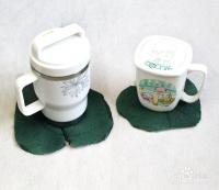 如何利用树叶和大白粉废物利用做漂亮的杯垫