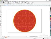 cdr如何填充橙黄艺术图样