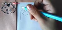 如何简笔画画拿星星气球的女孩