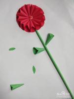 幼儿园手工剪纸贴立体花