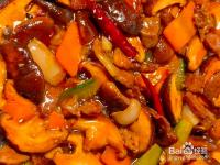 香菇炒肉的教程