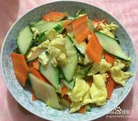黄瓜炒蛋的简单做法