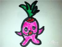 怎么样用简笔画画卡通形象萝卜