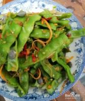 极味家常菜:双色椒炒雀蛋豆