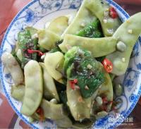 极味家常菜:青椒炒宽扁豆