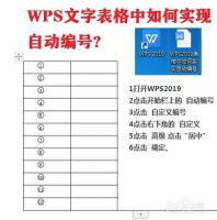 WPS文字表格中如何实现自动编号