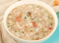 10个月宝宝辅食---海米菌菇西红柿牛肉粥