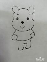 可爱的威尼熊怎么画