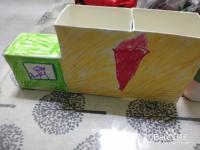 幼儿园手工药膏盒做小汽车