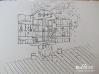 《窗外》针管笔手绘教程