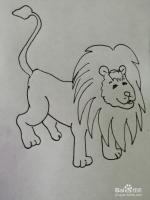 简笔画大狮子怎么画