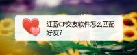红蓝CP交友软件怎么匹配好友?