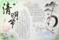 清明节习俗手抄报怎么画?