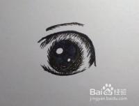 0基础学画画:画动漫人物眼睛的方法和步骤