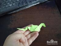 手工折纸之小绿蛇怎么折