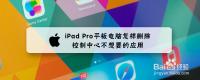 iPad Pro平板电脑怎样删除控制中心不想要的应用