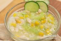 12个月宝宝辅食---黄瓜脊肉玉米粥