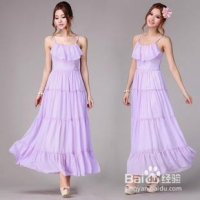 夏天,淡紫色裙子怎么搭配比较好看